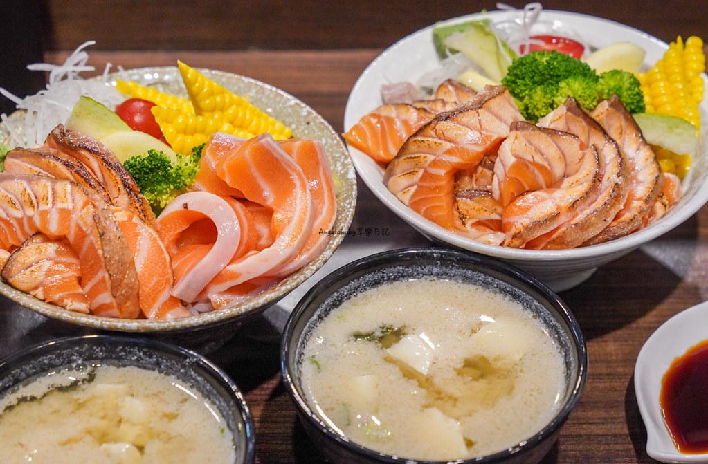 鮭魚控必吃的爆滿炙燒鮭魚腹丼『靜壽司』公館必吃、好吃日式丼飯、台北第一鮭魚丼 @梅格(Angelababy)享樂日記