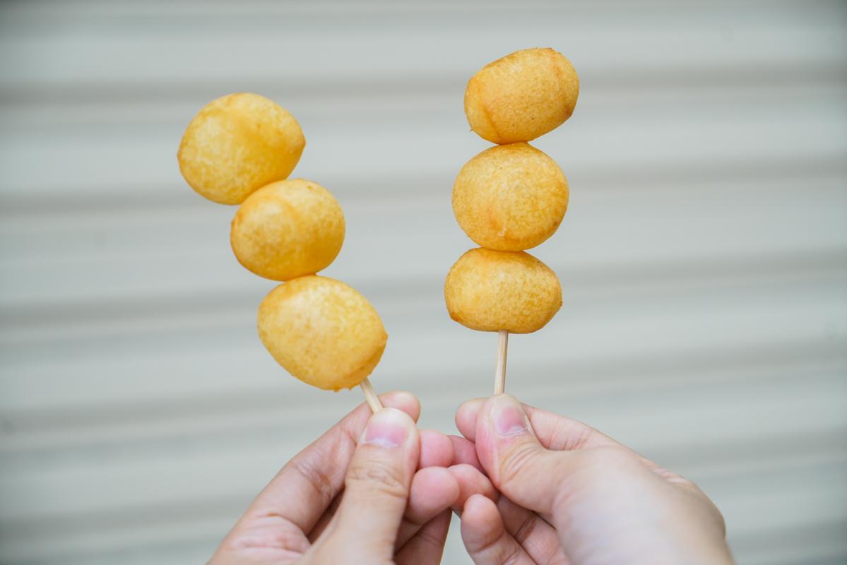 新莊地瓜球 一顆只要2.5元的手工QQ地瓜球,在地飄香26的排隊小吃『新莊QQ球』新莊排隊美食推薦 @梅格(Angelababy)享樂日記