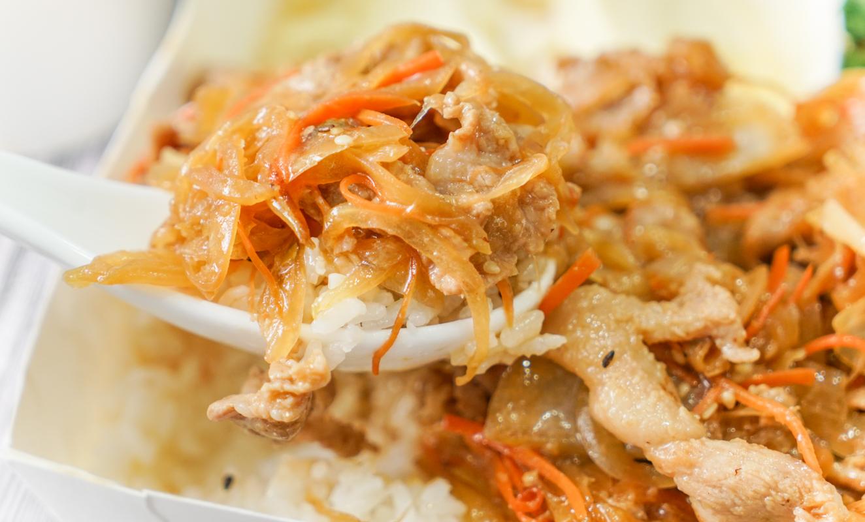 大直日本料理|日式定食外帶110起『揚屋大眾日式料理』大推薑燒牛肉定食 @梅格(Angelababy)享樂日記