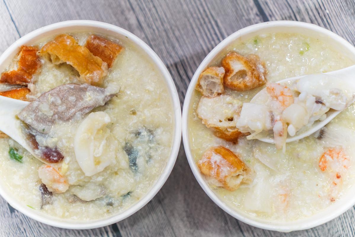 大直美食|料多又新鮮的大碗粥品推薦、大直外帶美食『大直粥品』、菜單 @梅格(Angelababy)享樂日記