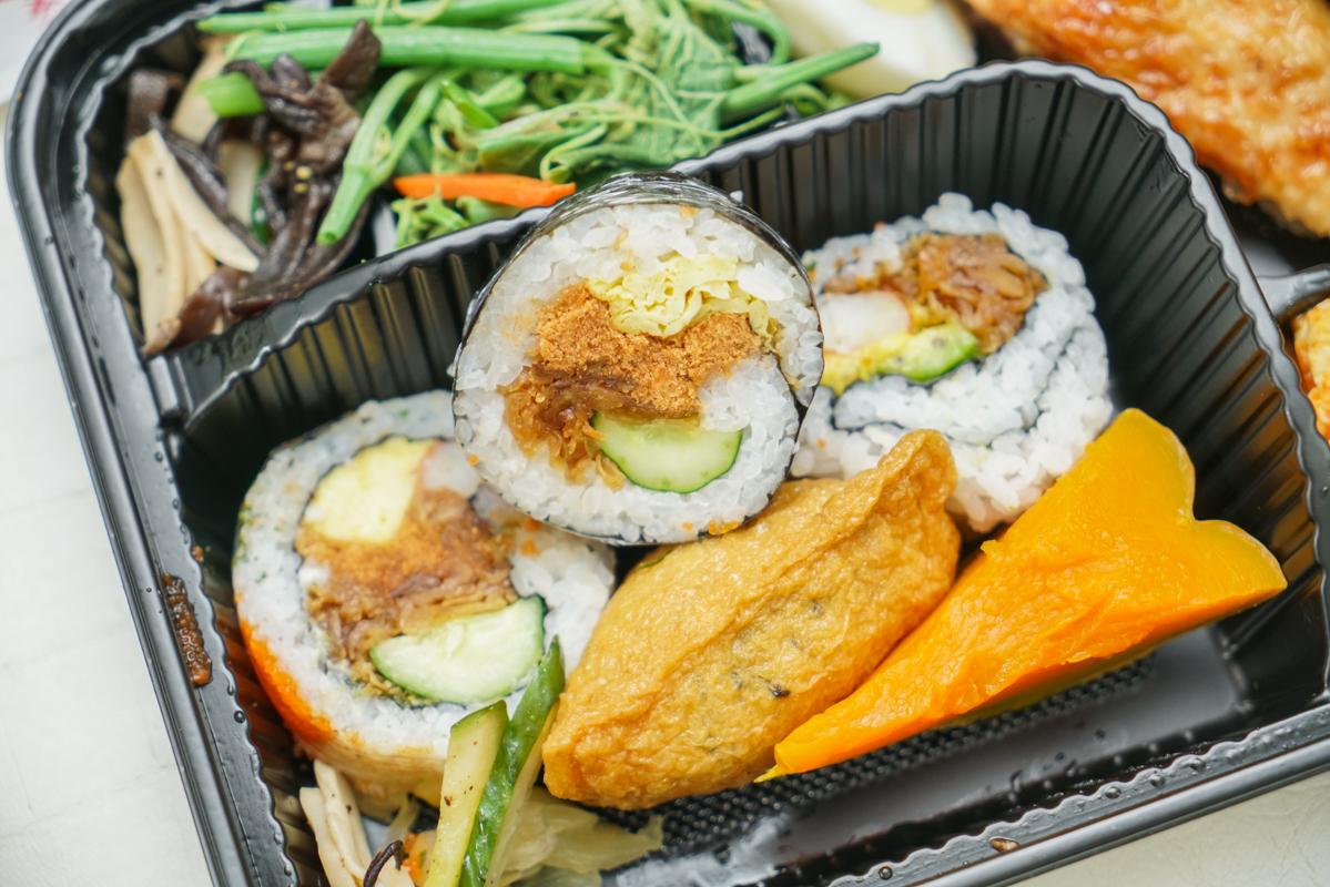 南京復興站美食 超值日式百元外帶餐盒,三菜一肉配壽司野餐都推薦『洺町和風美食』 @梅格(Angelababy)享樂日記