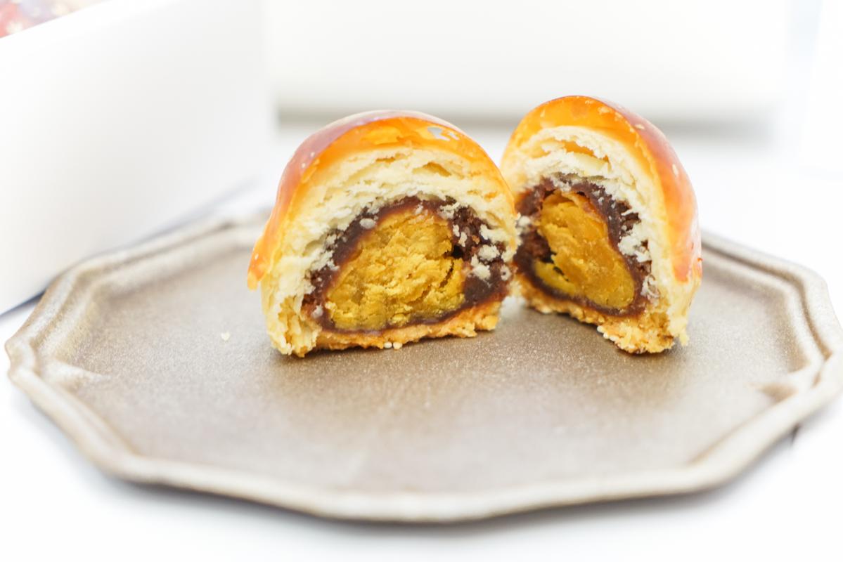 不加一滴水製作 L.Z.寶石蛋黃酥『無框架甜點』、金黃脆皮蛋黃酥、世界冠軍甜點大師的甜點店 @梅格(Angelababy)享樂日記