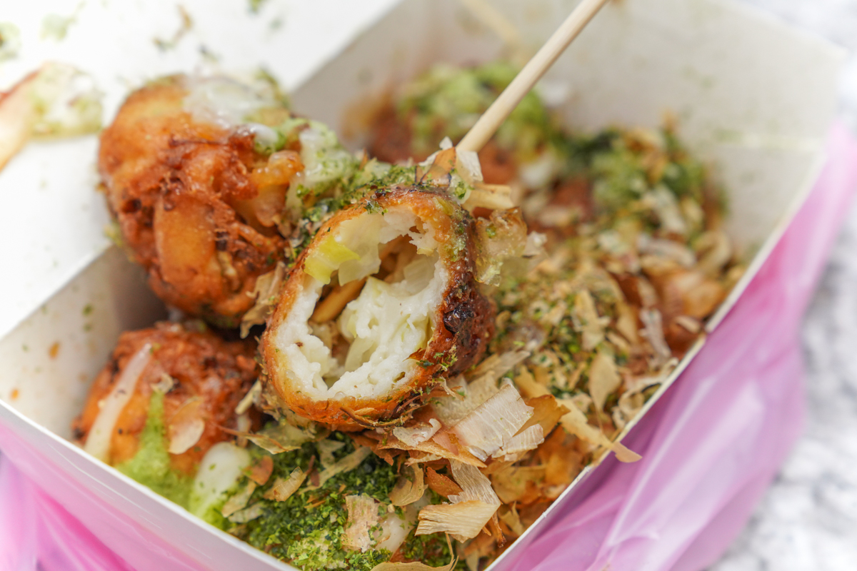 新莊美食 保證你沒吃過的脆皮章魚燒,10種創意口味任你搭配『元氣脆皮章魚燒』(新莊福壽店) @梅格(Angelababy)享樂日記