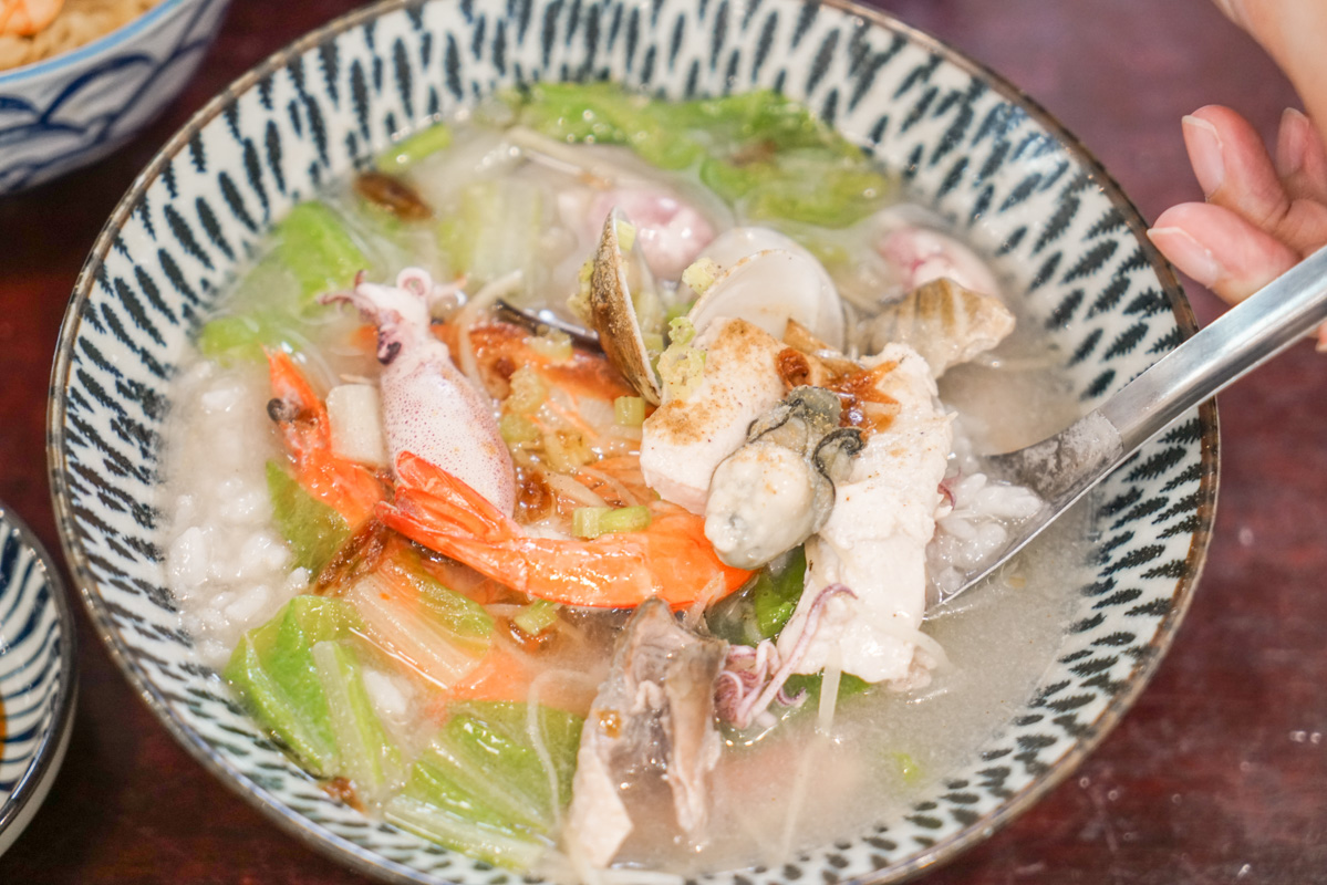 東門站美食 免赴台南就可以吃到滿滿胭脂蝦仁的好吃台南蝦仁飯『無一物海產粥』菜單 @梅格(Angelababy)享樂日記