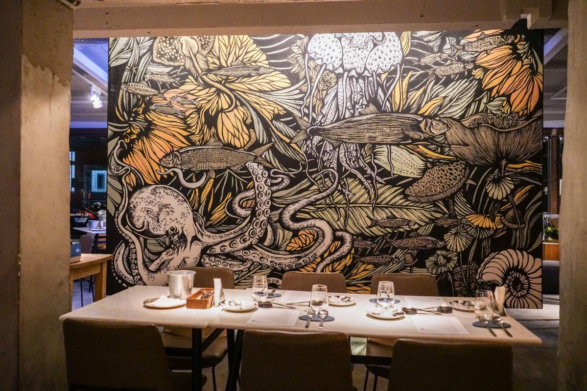 信義安和站美食|台北首家以海鮮為主的餐酒館『VG The Seafood Bar Taipei』菜單、台北約會餐廳、工業風質感餐酒 @梅格(Angelababy)享樂日記
