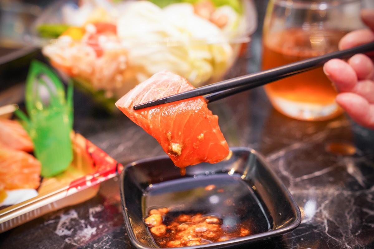 吉道水產 民生社區美食超市,活海鮮、鮮切生魚片、頂級肉品全部都買得到!免費內用區,隱藏版珠寶盒海鮮丼 @梅格(Angelababy)享樂日記