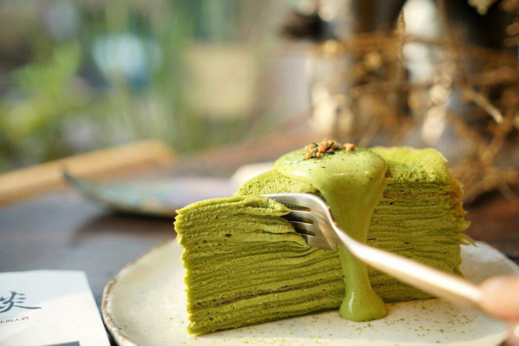 超抹的京都小山園抹茶千層蛋糕『沒有特別計畫caf'e』淡水下午茶、手作甜點、 台北千層蛋糕推薦 @梅格(Angelababy)享樂日記