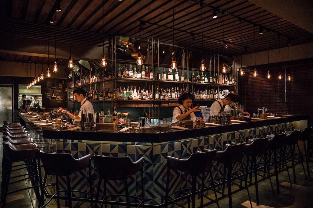 米其林一星餐酒館 LONGTAIL 窺視蟬聯兩屆米其林一星的料理魅力、掉入英國風情酒吧、約會聚餐推薦、創意料理餐廳、六張犁站美食、台北夜生活 @梅格(Angelababy)享樂日記