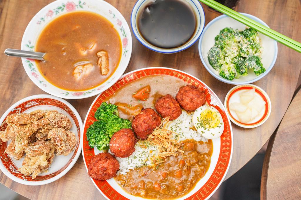 台北最佛心的好吃咖哩『小吉咖哩』加飯加麵加醬通通免費、爆炸好吃的銅板炸雞、爆汁杏鮑菇、百元平價咖哩、西門必吃美食推薦 @梅格(Angelababy)享樂日記