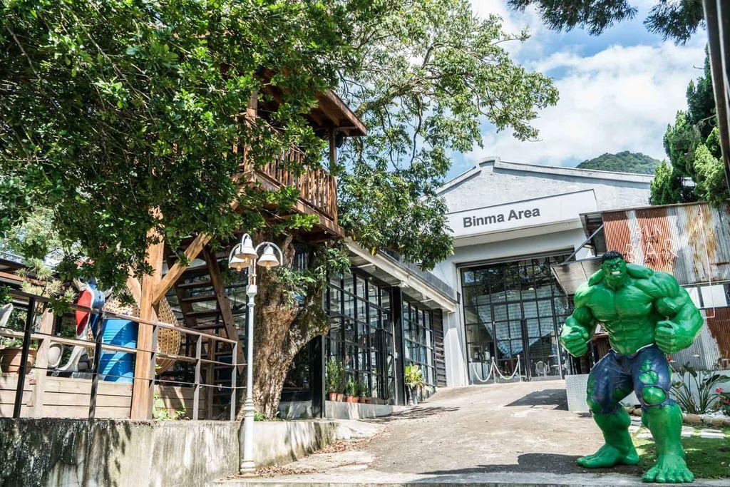 淡水秘境咖啡『Binma Area 134』 歐風玻璃屋咖啡館、網美打卡點、景觀咖啡、秘境咖啡、『淡水輕軌 濱海沙崙』 @梅格(Angelababy)享樂日記