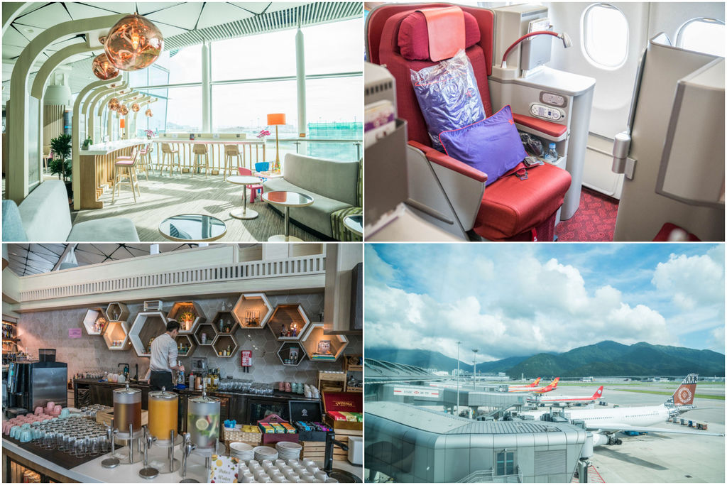 香港航空最新Vip Lounge貴賓休息室-遨堂 景觀休息區、調酒啤酒無限供應、雞蛋仔、港式雲吞現點現做、香港航空商務艙 @梅格(Angelababy)享樂日記