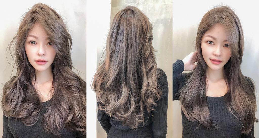 板橋染髮推薦|B.O.M hair design 打造霧咖啡質感髮色、女神波浪捲、設計師芭比 @梅格(Angelababy)享樂日記