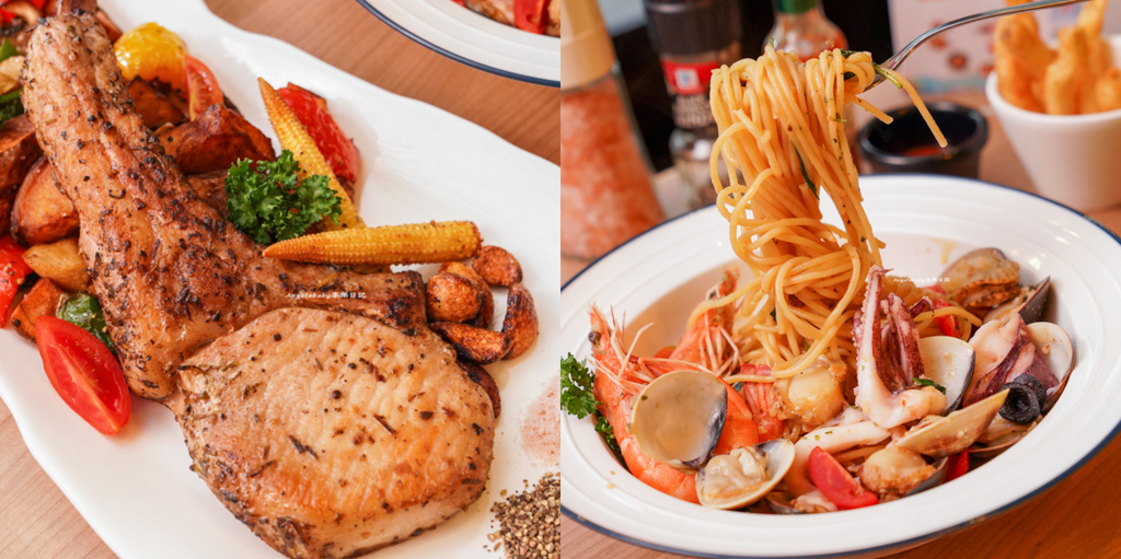 基隆必吃爆料海鮮義大利麵『二十一義』基隆超值排餐、基隆火車站美食 @梅格(Angelababy)享樂日記