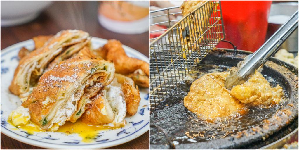 台北必吃蛋餅『重慶豆漿炸蛋餅』手橄老麵糰的千層半熟蛋餅、大龍峒市場飄香40年的老字號早點、大同區必吃美食 @梅格(Angelababy)享樂日記